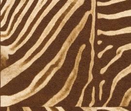 Zebraprint behang patchwork Rasch African Queen 423310