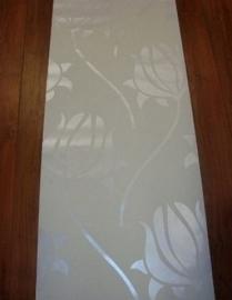 wit parelmoer modern bloemen behang wit 92