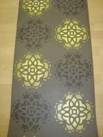 retro behang bruin goud vlies 48