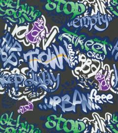 Coordonné Stars & Stripes behang Vintage Graffiti 2800061