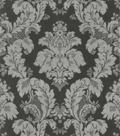 Behang Dutch Wallcoverings Insieme medaillon zwart/zilver 57054