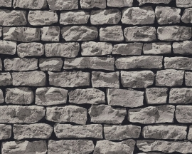 907912 grijs natuursteen steen behang