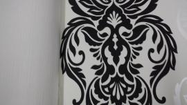 zwart barok behang vlies 40870