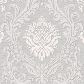Barok behang grijs taupe metalic glitter A2870