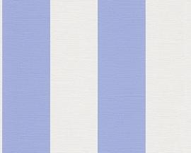 strepen vlies blauw behang 30410-4