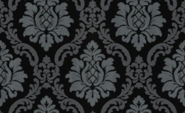 Barok behang zwart glitter 10112-15
