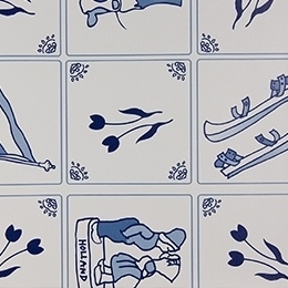 Tafelzeil Delfts blauw 201.2