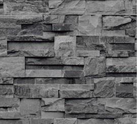 grijs steen behang natuursteen 3d effekt vinyl 3D trendy XX16