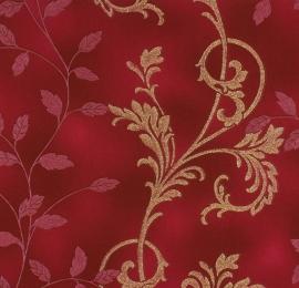 Glitter rood goud vlies behang  Diamond Dust 450545