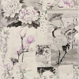 CHINEES BEHANG KRAANVOGEL GEISHA - Rasch Tiles and More XIII 870114