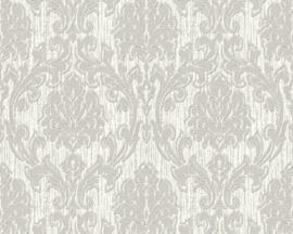 grijs barok behang metalic 357024