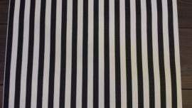 zwart strepen behang vlies z17