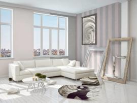 strepen behang grijs roze 32990-3