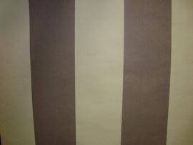 strepen bruin creme behang 76