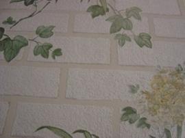natuur steen behang met bloemen 19