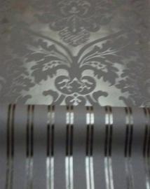 barok behang vinyl parelmoer zwart xx130