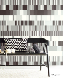 Eijffinger Stripes+ Wallpower 377201 Ulti Multi B&W
