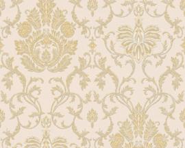 Glitter Behang barok goud 33902-7