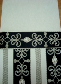 zwart wit hermitage vinyl diamanten behang 7