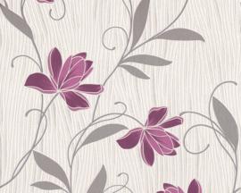 paars bloemen behang 94961-5