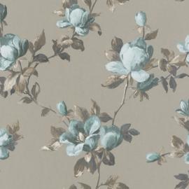 rasch emilia blauw bloemen behang 502152