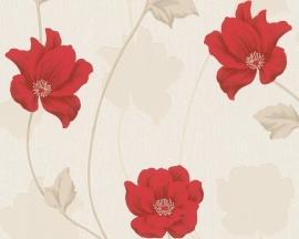 rood bloemen behang chicago vinyl 3085-11