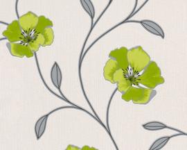 groenm bloemen behang xxxx65