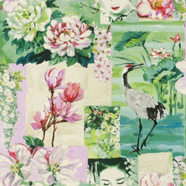 CHINEES BEHANG KRAANVOGEL - Rasch Tiles and More XIII 870107