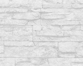 AS Creation Wood´n Stone 7071-61  Steenstructuur 3d behang