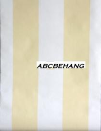 strepen vlies behang geel/goud 68240