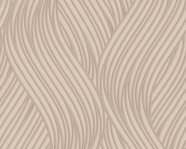 as creation mila 939652 beige modern retro behang