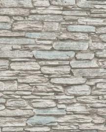 Steen behang grijs blauw 6721-40