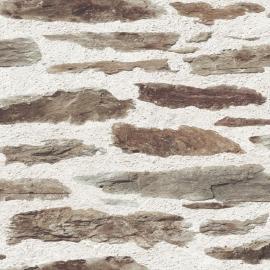 Dutch Replik behang J987-07 Oude muur met stenen