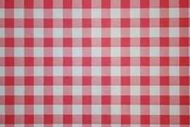 Behang Expresse Rood wit Ruitjes 23805