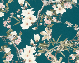 vogel behang bloemen 36498-4