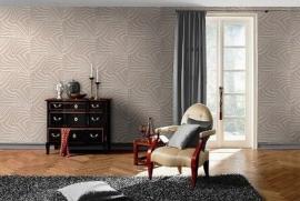 beige cremé zebraprint dieren print behang 30