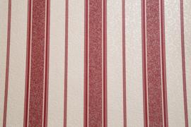 Rood strepen behang met glitter 1369-15