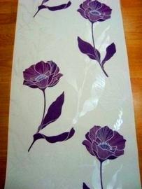 paars wit parelmoer modern bloemen behang 18