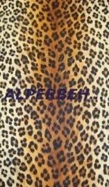 dierenprint zwart bruin geel luipaardprint vinyl behang 207