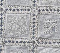 kant tafelzeil tafelkleed wit bloemetjes  ptx14