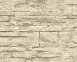 AS Creation Murano 7071-30 Stone beige creme steenbehang