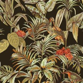 Vogel Behang tropical  Wallstitch De120015