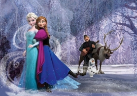 Fotobehang. 1632 Frozen / Mural for kids