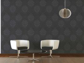 Barok behang zwart grijs 36898-4