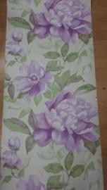 paars bloemen vlies behang 00051
