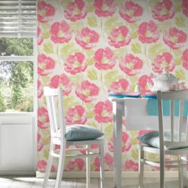 Bloemen behang vlies 96007-3