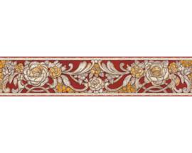 bloemen behangrand rood34078-3