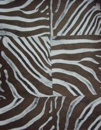 bruin bronz wit zebraprint afrika dieren print vlies behang 10