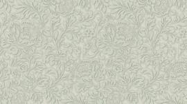 5784-24 klassiek behang bloemetjes grijs groen 3D vinyl
