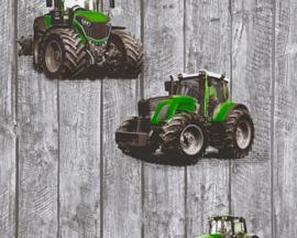 groen tractor behangen  35840-2